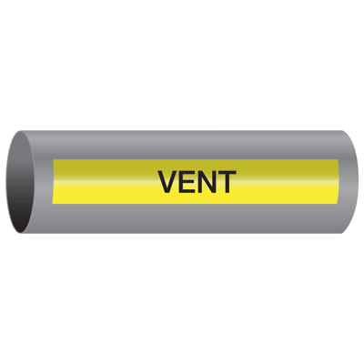 Xtreme-Code™ Self-Adhesive High Temperature Pipe Markers - Vent