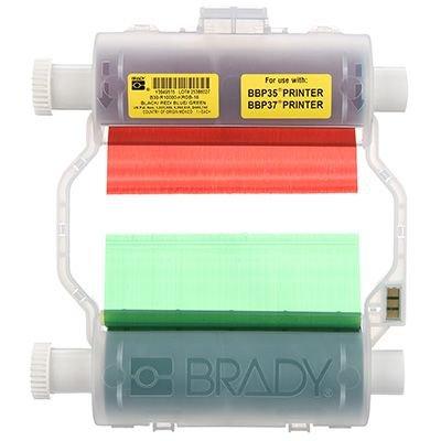 Brady B30-R10000-KRGB-16 B30 Series Ribbon - Black/Blue/Green/Red
