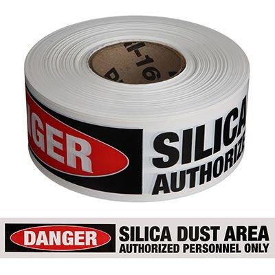 Silica Dust Area - Silica Barricade Tapes