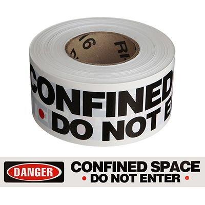 Danger Confined Space Do Not Enter Barricade Tape
