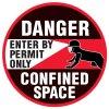 Anti-Slip Floor Markers - Danger Confined Space