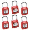 Brady® Safety Padlocks - Keyed Differently (Set of 6)