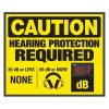Decibel Meter Signs - Hearing Protection (Earmuffs Symbol)