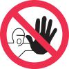 International Symbols Labels - No Admittance