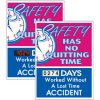 Stock Scoreboards - No Quitting No Lost Time Accident