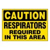 Ultra-Stick Signs - Caution Respirators Required