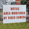 Vandal Resistant Signs- Notice Area Monitored By Video Camera