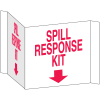 3-Way View Spill Control Signs - Spill Response Kit