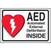 AED Label - Automated External Defibrillator INSIDE