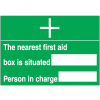 First Aid Signs - Nearest First Aid Box
