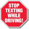 No Texting & Cell Phone Law Signs - Stop Texting While Driving