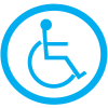 Safety Door And Window Decals- (Symbol Of Access Graphic Only)