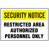 See-Thru Security Decals - Restricted Area