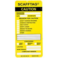 Caution Scafftag Insert