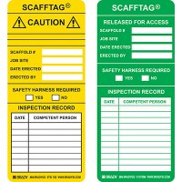 Released for Access Scafftag Insert