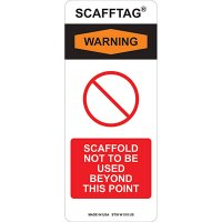 Not To Be Used Scafftag Insert