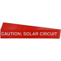Caution: Solar Circuit - Solar Warning Labels