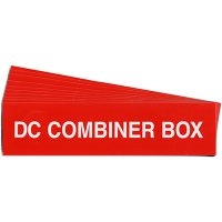 """DC Combiner Box"" Solar Warning Labels"