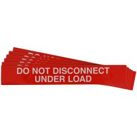 """Do Not Disconnect Under Load"" Solar Warning Labels"