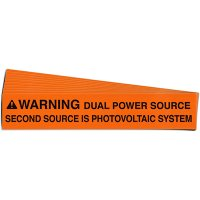Dual Power Source Solar Warning Labels