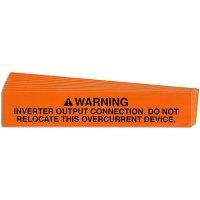 Inverter Output Connection Solar Warning Labels
