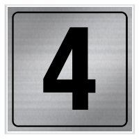 4 - Engraved Door Number Signs