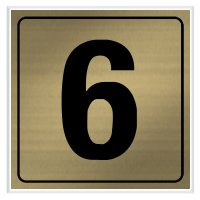 6 - Engraved Door Number Signs