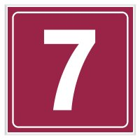 7 - Engraved Door Number Signs