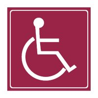 Accessibility Symbol - Engraved Graphic Symbol Signs