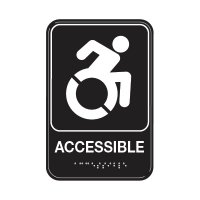 Accessible W/ Dynamic Accessibility - Graphic ADA Braille Tactile Signs