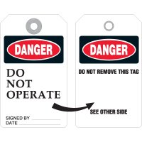 Danger Do Not Operate Tags