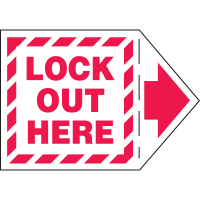 Add-An-Arrow Lockout Labels - Lock Out Here