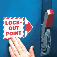 Add-An-Arrow Lockout Labels - Lock-Out Point