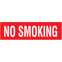 No Smoking Self-Adhesive Vinyl Signs