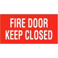Fire Door Keep Door Closed Self-Adhesive Vinyl Door Signs