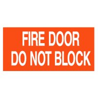 Fire Door Do Not Block Self-Adhesive Vinyl Fire Door Signs