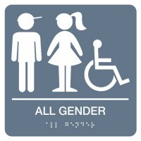 All Gender (Boy, Girl, Accessibility) - Graphic Braille Signs