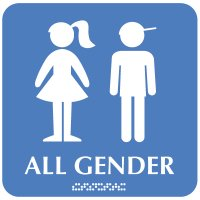 All Gender (Boy/Girl Graphic) - Optima ADA Restroom Signs