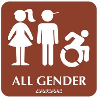Kid's Restroom Sign with Dynamic Accessibility Symbol