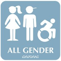 All Gender (Dynamic Accessibility) - Optima ADA Restroom Signs