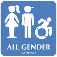 All Gender (Dynamic Accessibility) - Optima ADA Restroom Signs