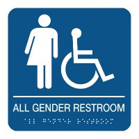 All Gender Restroom Sign (Wheelchair Accessible)