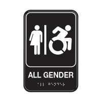 All Gender Washroom Sign - Wheelchair Accessible