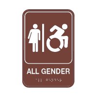 All Gender Restroom Sign with Braille