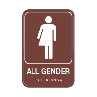 All Gender W/ Symbol - Graphic ADA Braille Tactile Signs