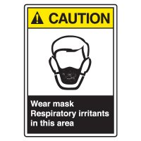 ANSI Z535 Safety Sign - Caution Wear Mask