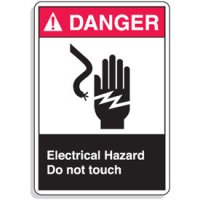 ANSI Z535 Safety Signs - Electrical Hazard Do Not Touch