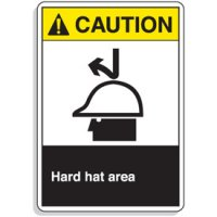 ANSI Z535 Safety Signs - Hard Hat Area