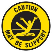 Anti-Slip Floor Markers - Caution May Be Slippery
