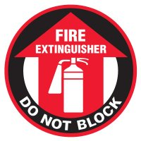 Anti-Slip Floor Markers - Fire Extinguisher Do Not Block